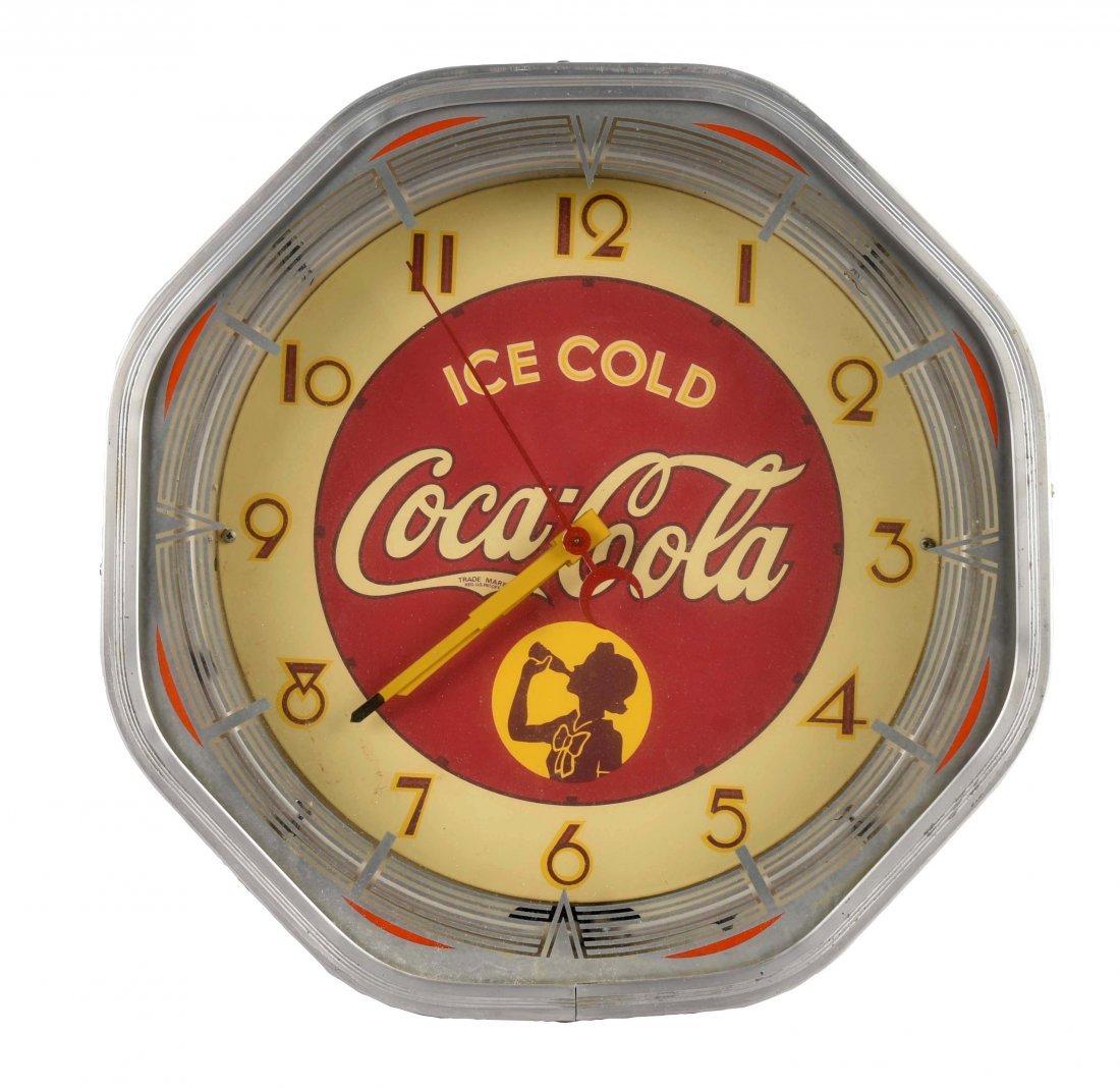 1940's Coca-Cola Neon Octagon Clock.