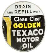Texaco Motor Oil Curved Porcelain Sign.