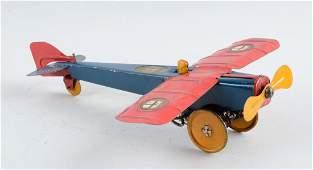 Strauss Tin Litho Wind Up Mail Plane