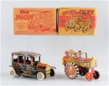 Lot of 2 Marx Tin Litho WindUp Automobile Toys