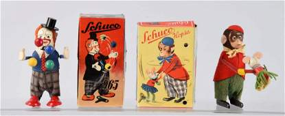 Lot Of 2 German Schuco WindUp Figural Toys