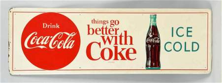 Large Advertising CocaCola Tin Sign