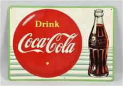 Drink Coca-Cola Advertising Tin Sign.