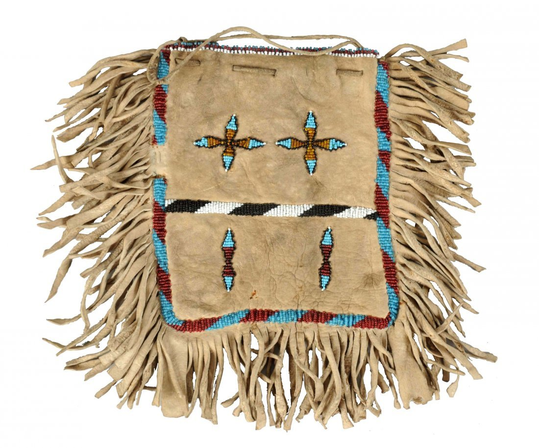 Early Indian Beaded Bag.