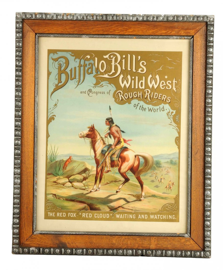 Buffalo Bill's Wild West Red Cloud Advertising Poster.
