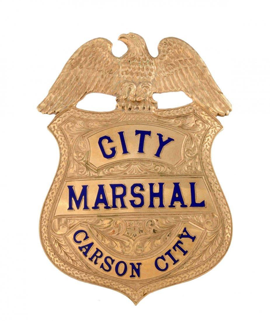 Gold & Enameled Marshal's Badge.