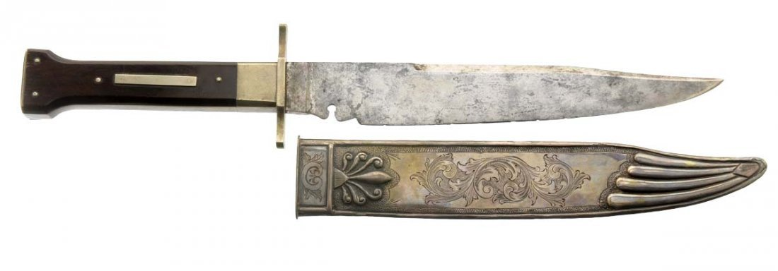 """""""Arkansas Toothpick"""" Bowie Knife by Butcher(English)."""