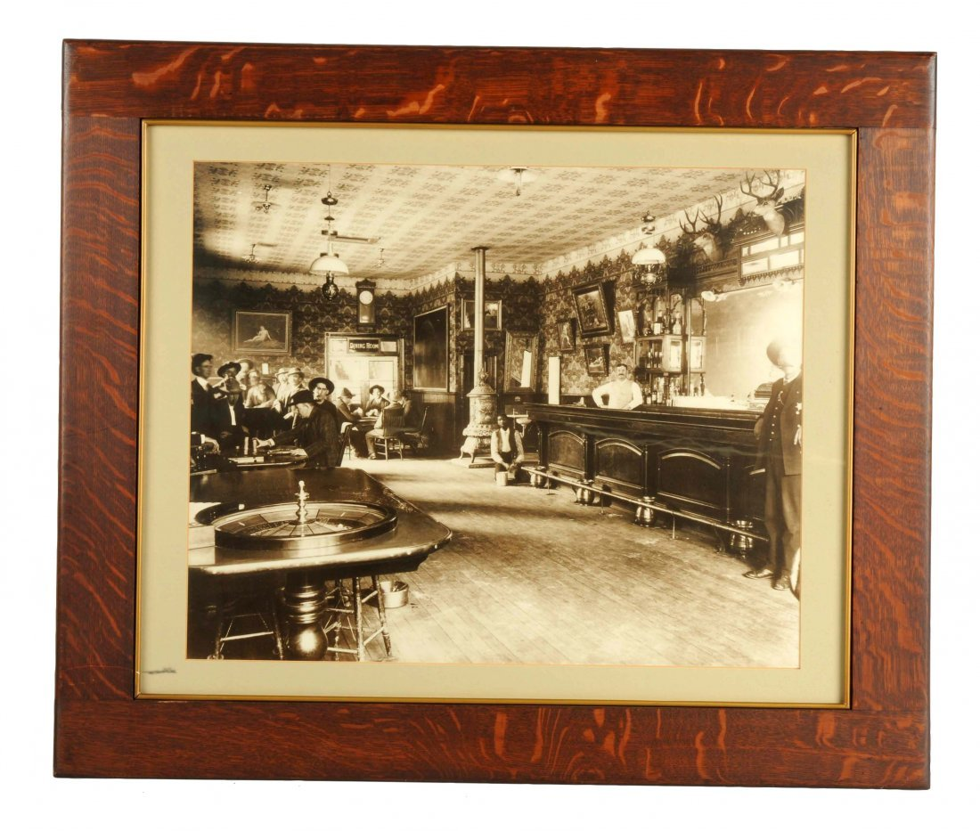 Oversized Photograph Of A Western Saloon.