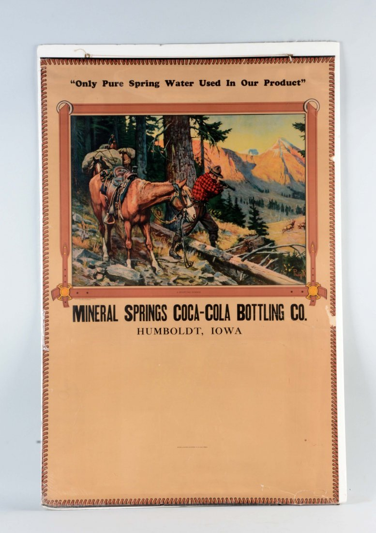 Oversized Mineral Springs Coca - Cola Advertising