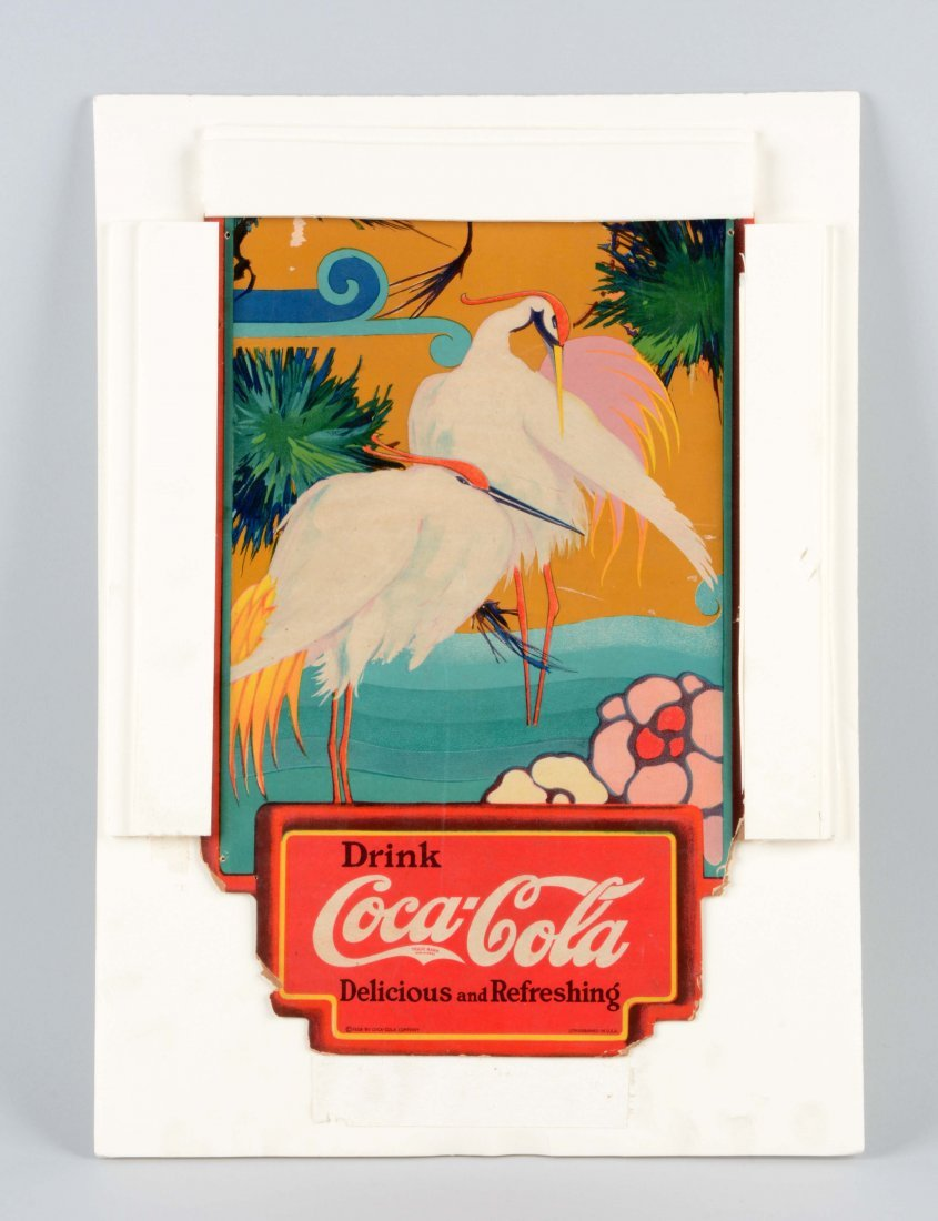 1926 Coca-Cola Diecut Cardboard Sign.