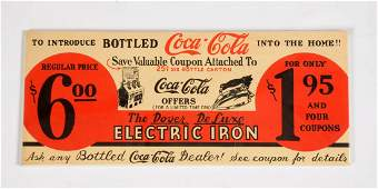 Early CocaCola Paper Advertising Sign