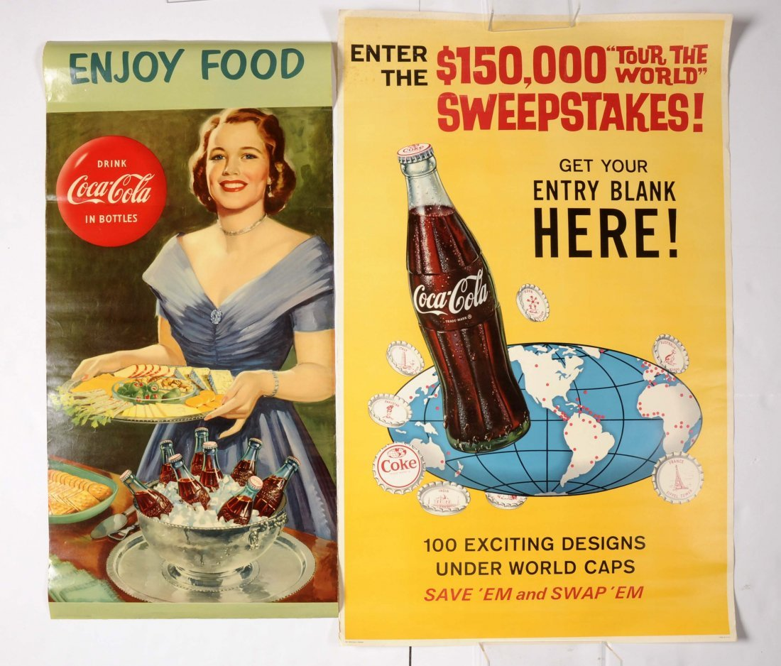 Lot of 5: Coca-Cola Posters.