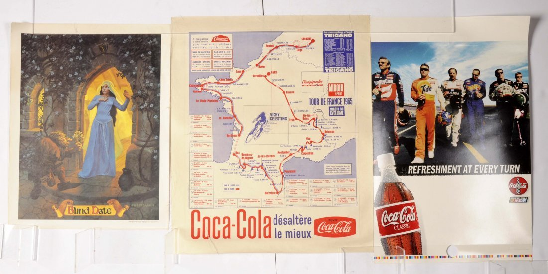 Lot of 5: Coca-Cola Posters. - 2