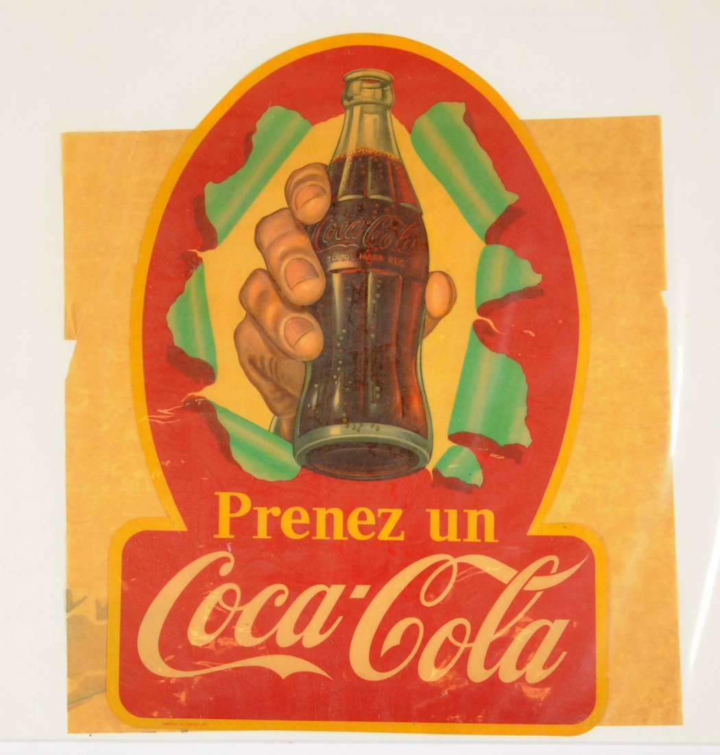 French Canadian Coca - Cola Advertising Decal.