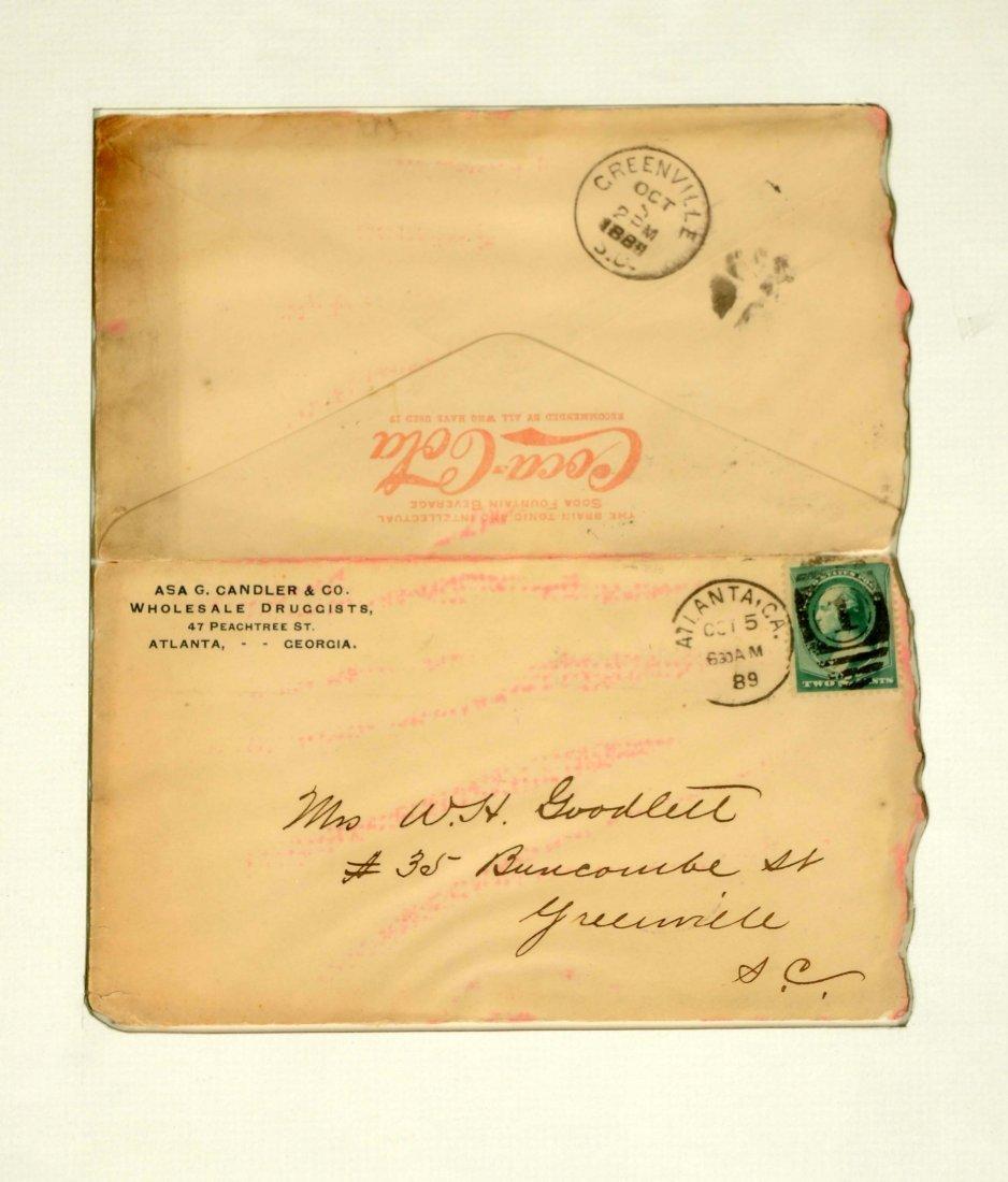 Lot of 2: Framed Coca-Cola Letterhead & Envelope. - 2