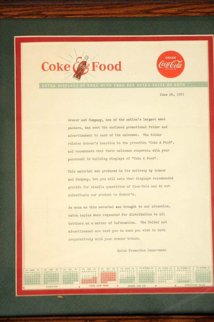 Lot of 2: Framed Coca-Cola Letterhead & Envelope. - 3