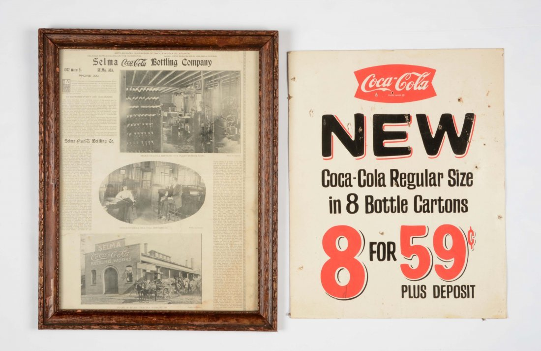 Lot of 2: Coca-Cola Advertising Signs.