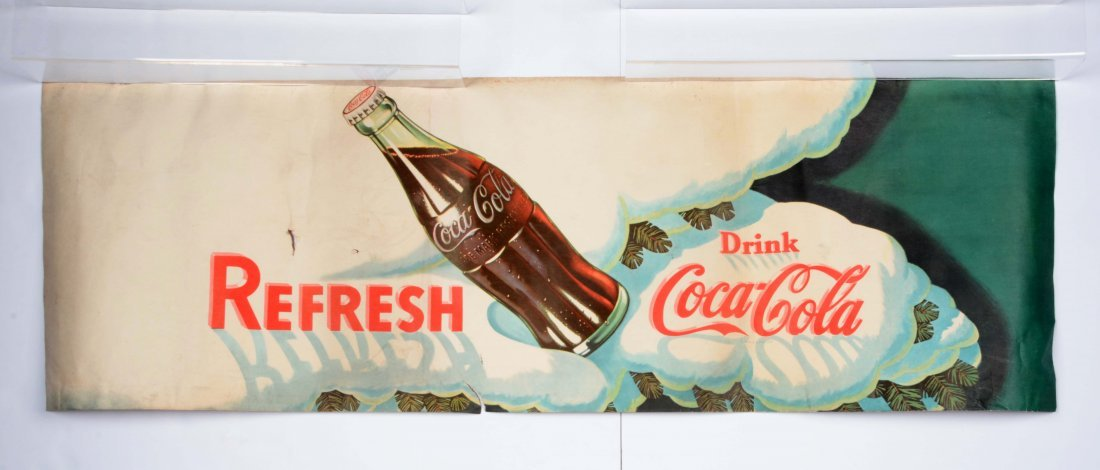 Coca-Cola Advertising Paper Banner.
