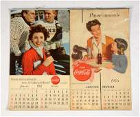 Lot of 2: French Canadian Coca-Cola Calendars.