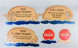 Five Piece CocaCola Diecut Advertising Sign