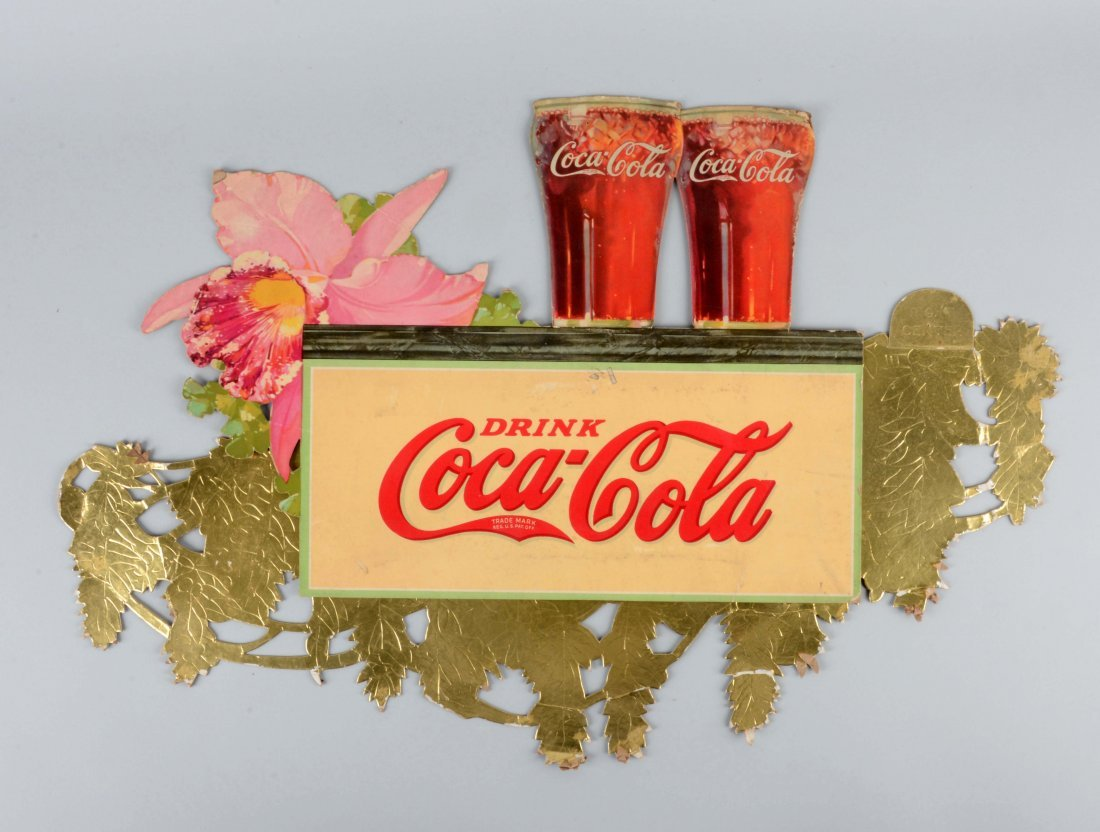 Coca-Cola Diecut Advertising Sign.