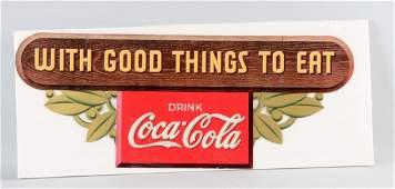 Coca  Cola Diecut Cardboard Advertising Sign