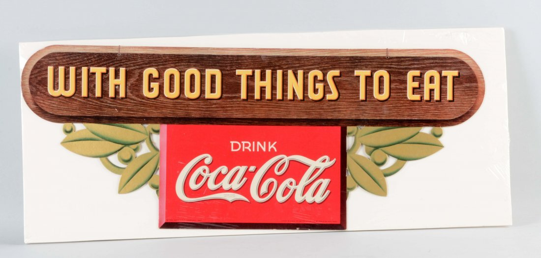 Coca - Cola Diecut Cardboard Advertising Sign.