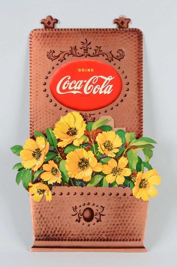 Coca-Cola Diecut Easel Back Sign.
