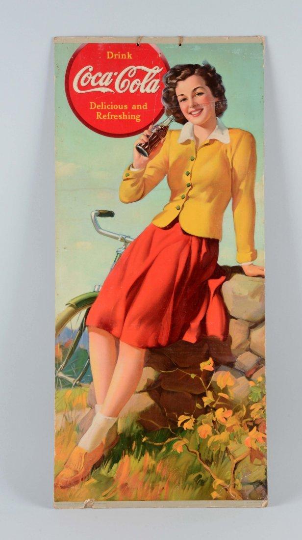 1939 Coca-Cola Cardboard Advertising Sign.