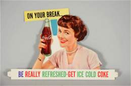 CocaCola Diecut Cardboard Advertising Sign