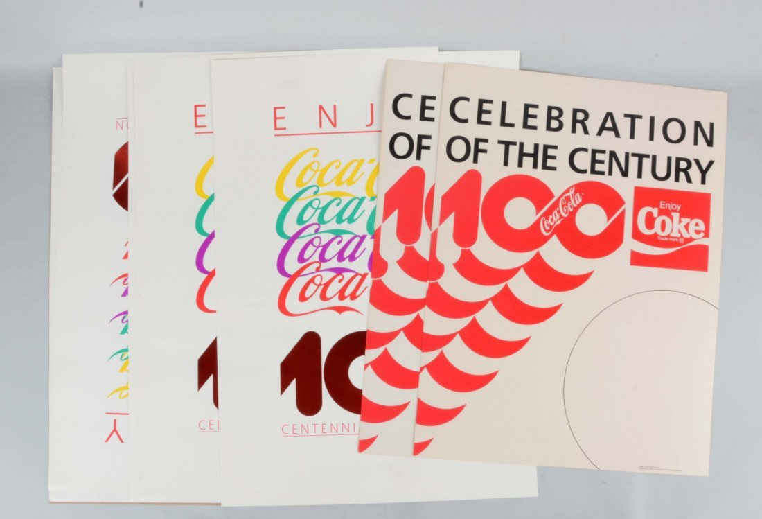 Lot Of Coca - Cola Paper Centennial Posters.