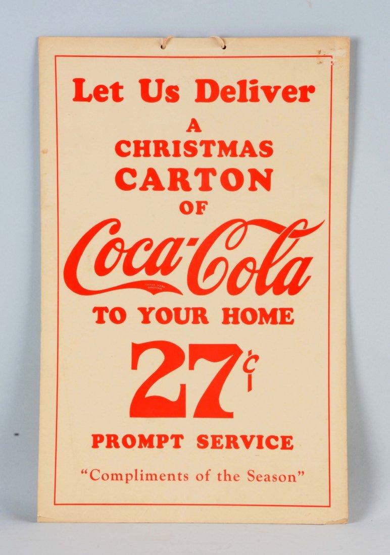Cardboard Coca - Cola Delivery Service Advertising