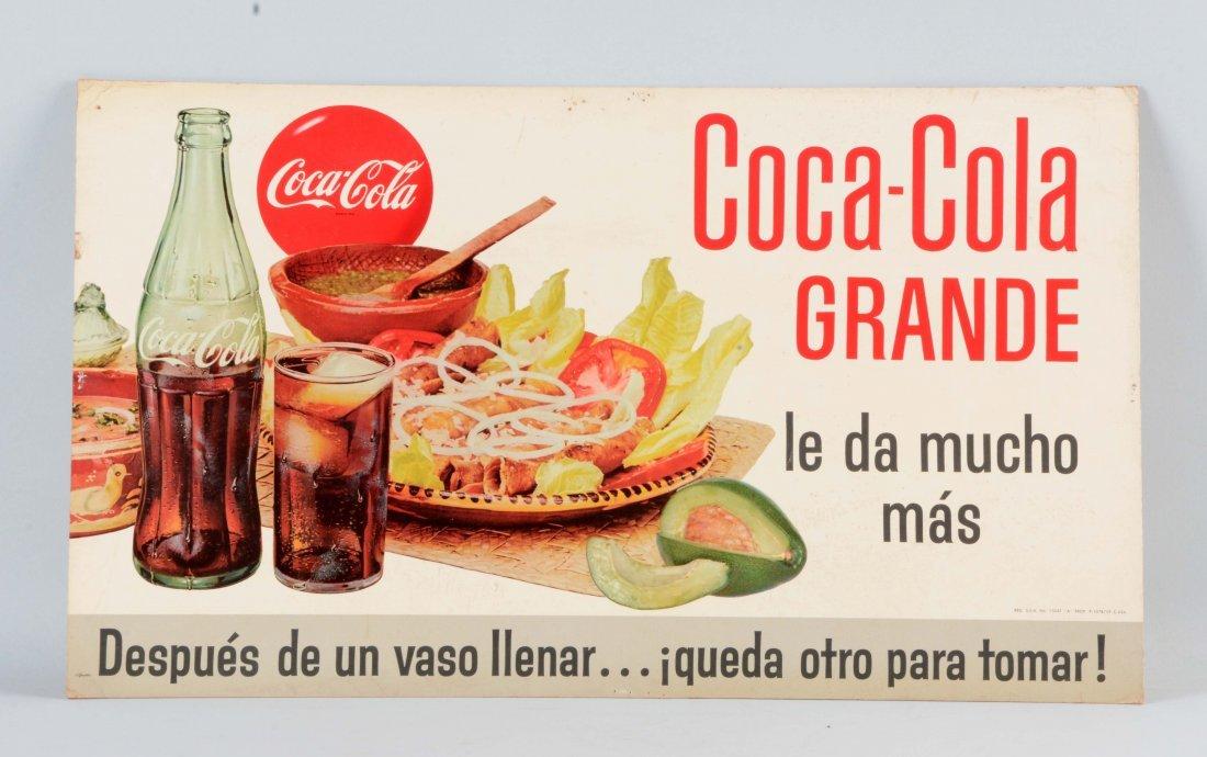 Coca - Cola Cardboard Advertising Sign.