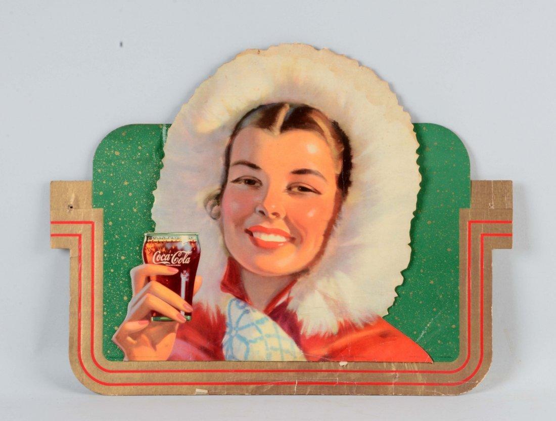 1944 Diecut Coca - Cola Advertising Sign.