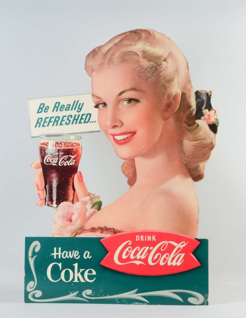1959 Diecut Coca - Cola Advertising Sign.