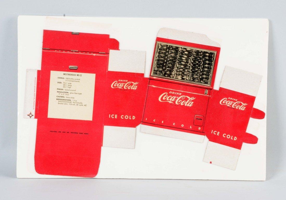 Cardboard Coca - Cola Unfolded Cooler.