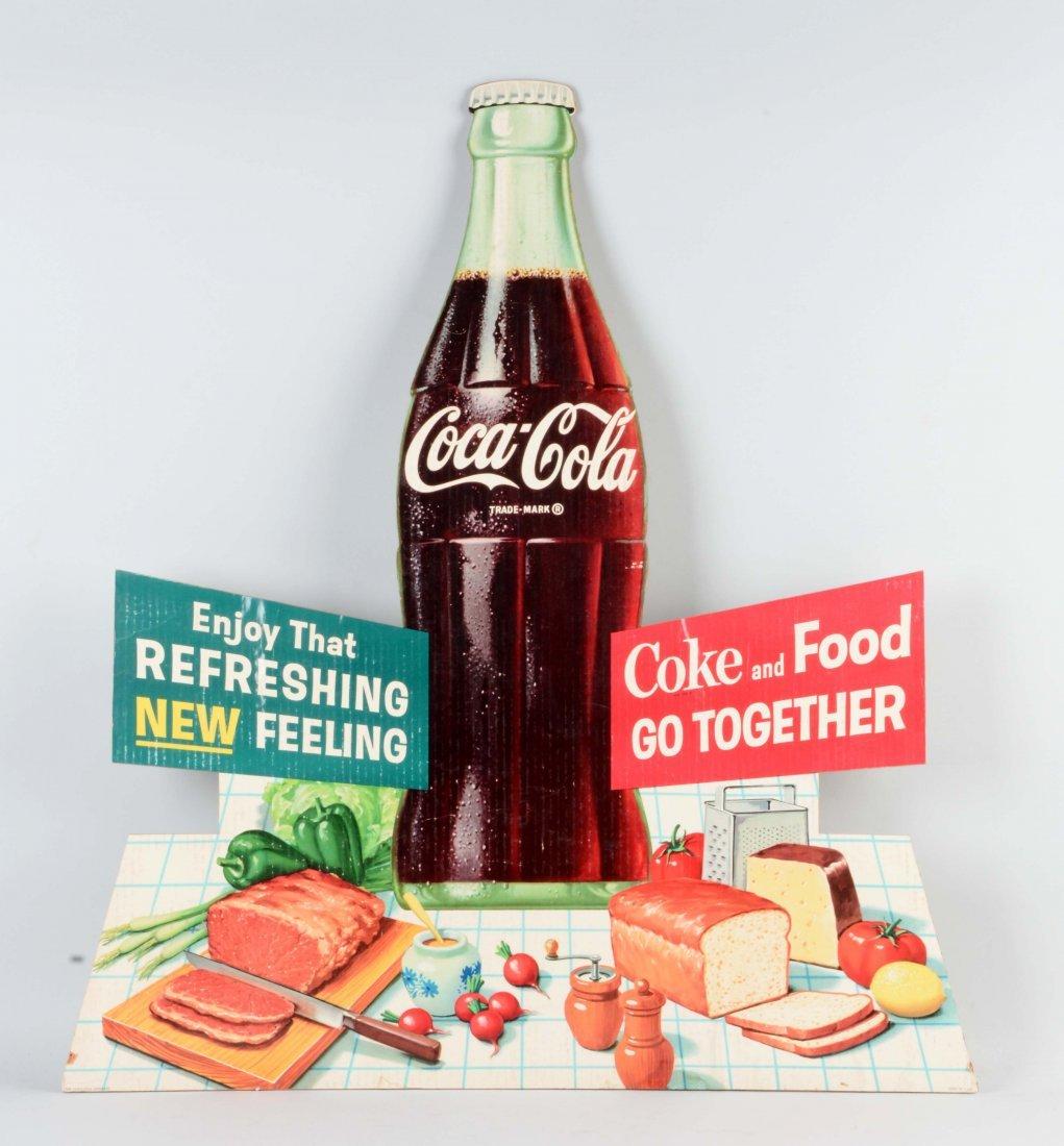 Coca - Cola Cardboard Diecut Sign.