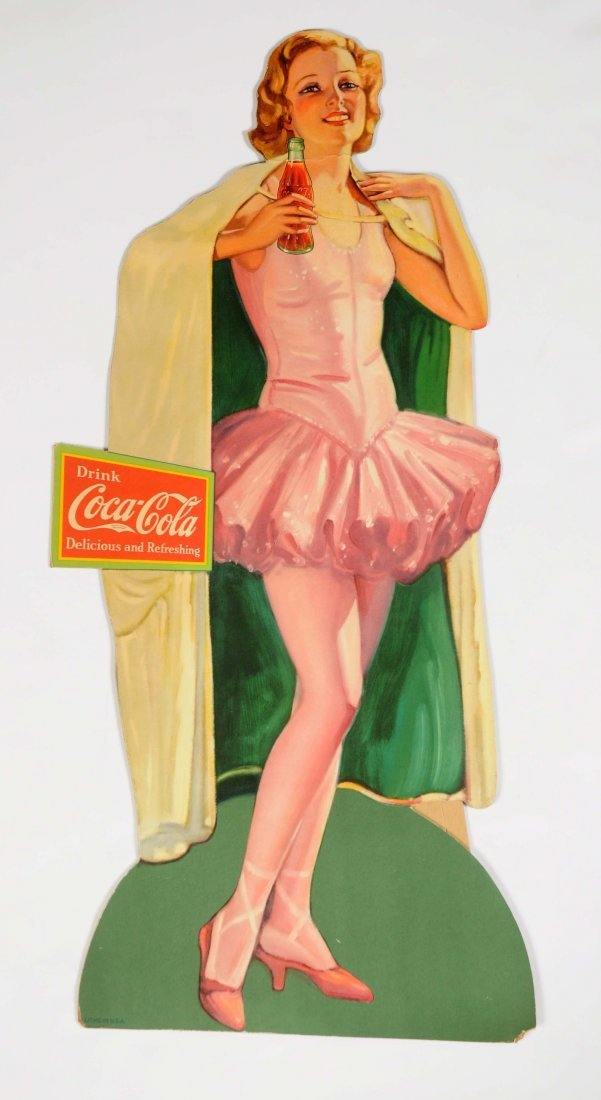 Coca-Cola Easel Back Diecut Cardboard Sign.