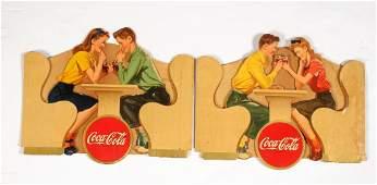 Lot Of 2 1945 Diecut Cardboard Advertising Signs