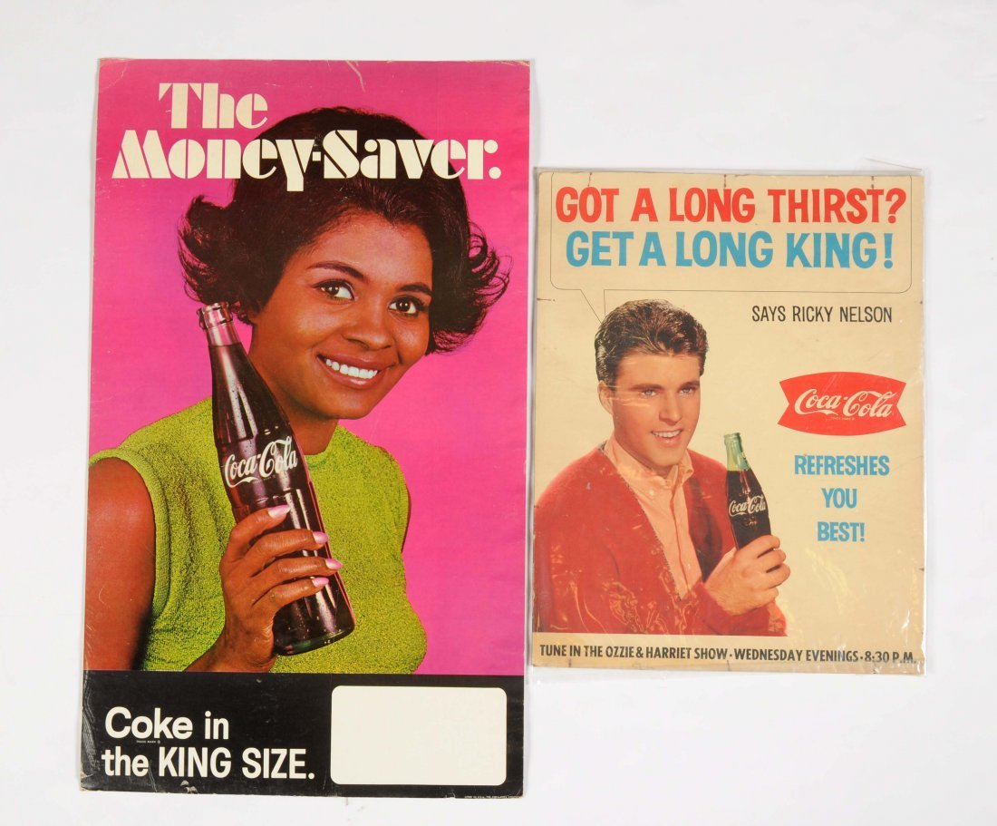 Lot of 2: Coca-Cola Advertising Posters.