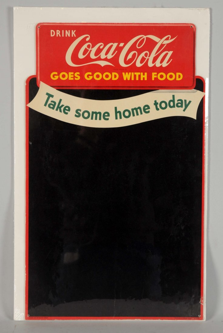 1950 Coca - Cola Cardboard Cut-Out Menu Board.