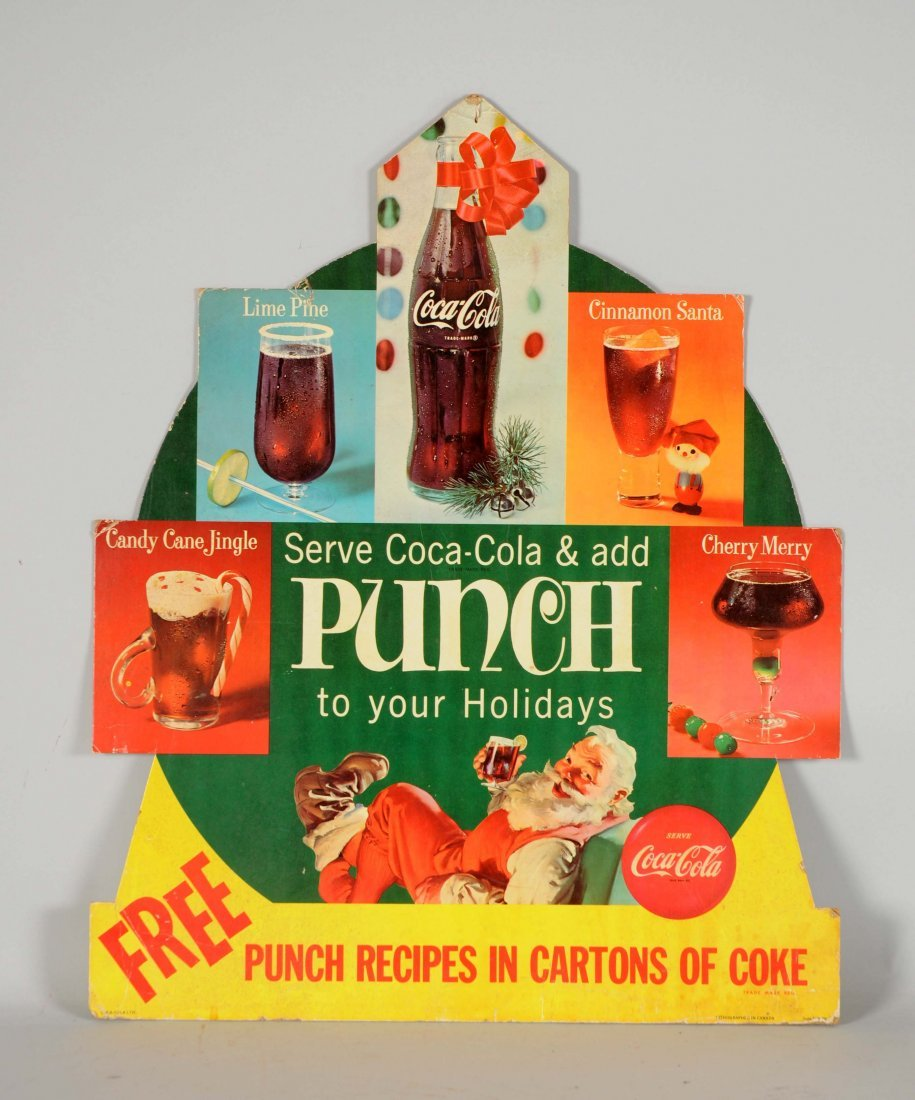 Coca-Cola Punch Diecut Easel Back Sign.