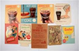 Lot of Coca-Cola Cardboard Items.