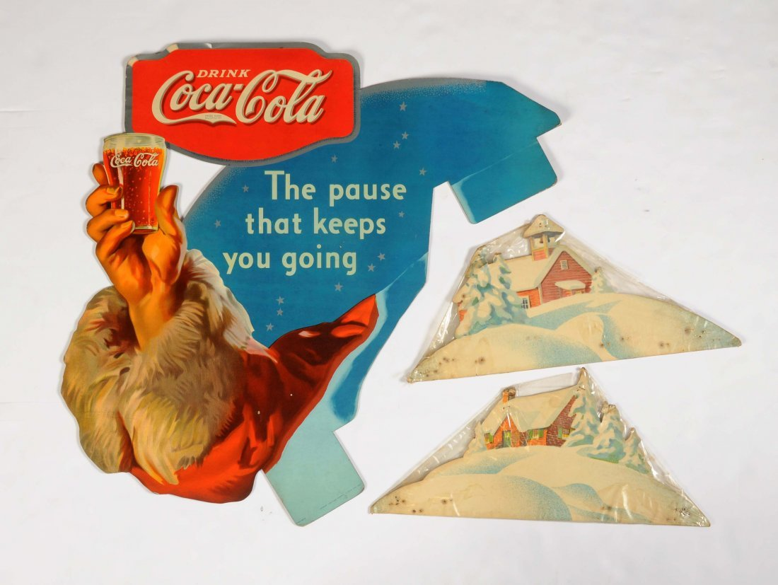 1934 Coca - Cola Cut-Out Cardboard Sign.