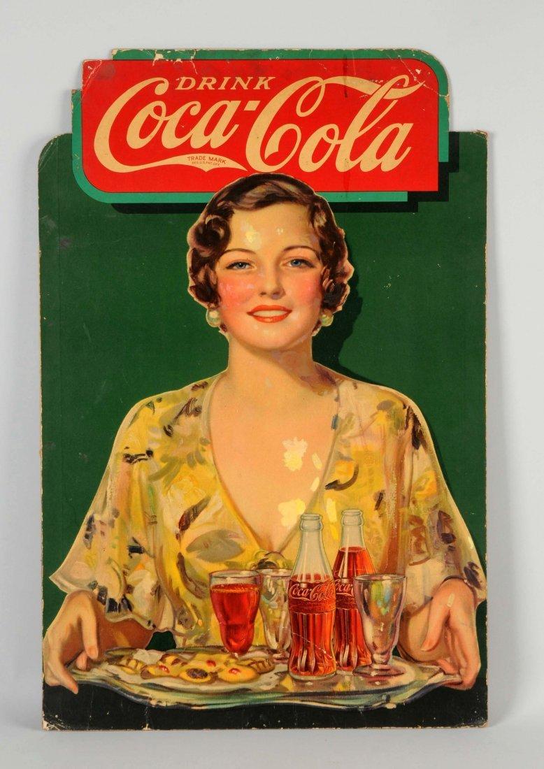 Coca-Cola Cardboard Diecut Advertising Sign.