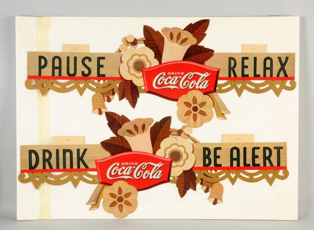 1934 Coca-Cola Advertising Festoon.