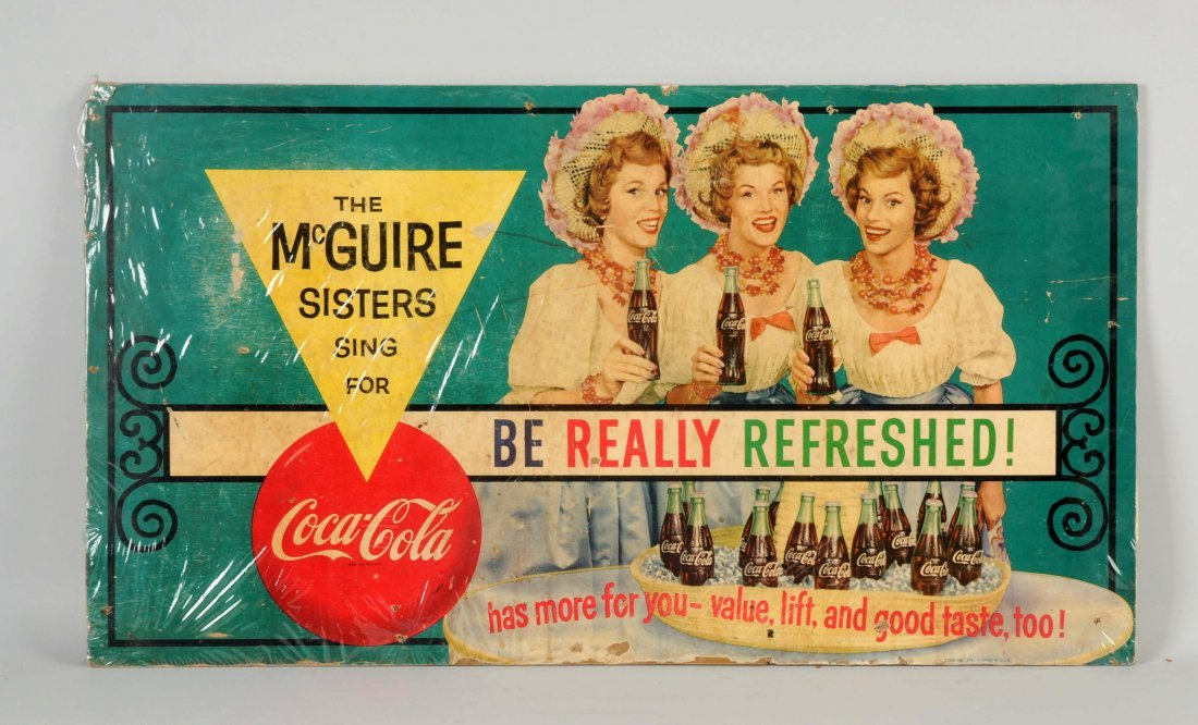 Coca-Cola McGuire Sisters Advertising Sign.