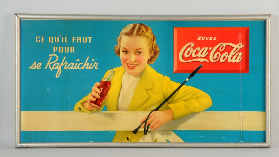 French Canadian Coca-Cola Advertising Sign.