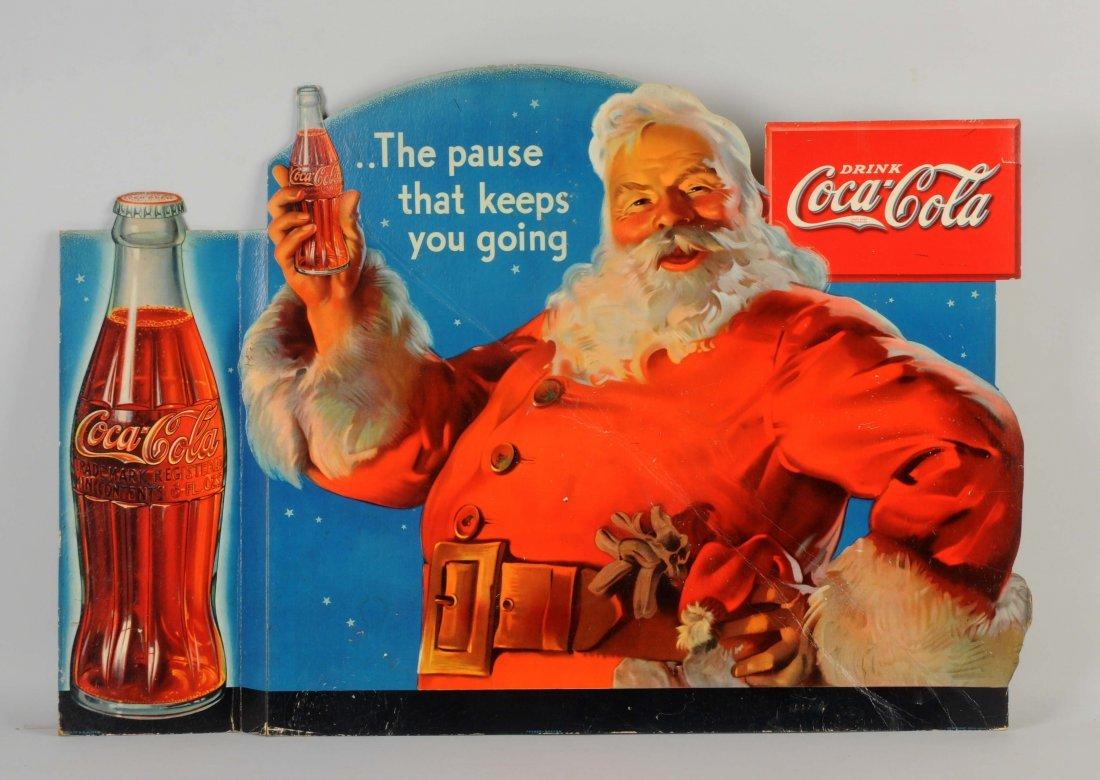 Diecut Coca-Cola Santa Advertising Sign.