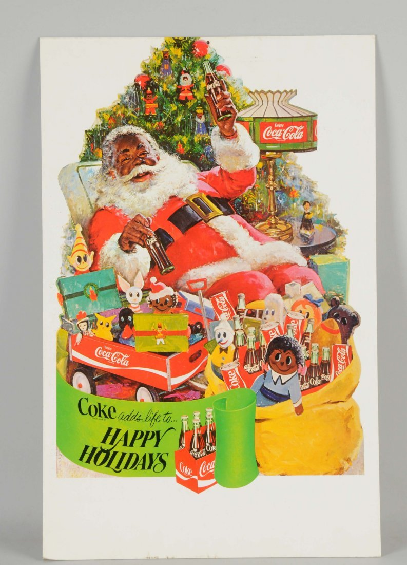 Coca-Cola Santa Double Sided Cardboard Advertising